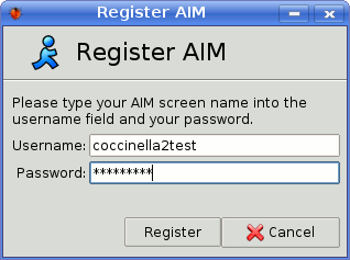 Register to AIM Transport